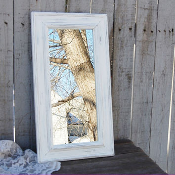 White beach decor mirror