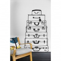 ferm LIVING Suitcases Wall Sticker in Black - 2040-01 - All Wall Art - Wall Art  Coverings - Decor
