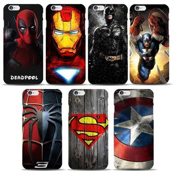 Deadpool Dead pool Taco Marvel Avengers Case for coque iphone 7 8 6s Plus 5s SE  Spiderman Captain America Shield Ironman Superhero Phone Covers AT_70_6