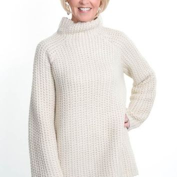 Oatmeal High Neck Sweater
