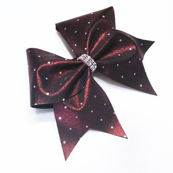Cheer bow, Maroon cheer bow, sliver sequin cheer bow, cheerbow, cheerleading bow, softball bow, dance bow, pop warner cheer bow, big bow