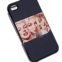 Holiday SALE Iphone 4 / 4s Case Cell Phone Cover - Marilyn Monroe - Black Case