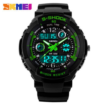 2016 New S Shock Men Sports Watches Skmei Quality Brand Digital Analog Alarm Military Watch Relogio Masculino Digital-Watch
