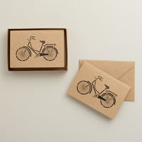 Laser Cut Retro Bike Notecards, Set of 8 - World Market