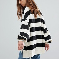 Pull&Bear Stripe Sweatshirt at asos.com