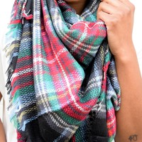 Black Multi Blanket Scarf