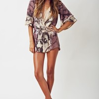 TIE DYED WILD AND FREE ROMPER