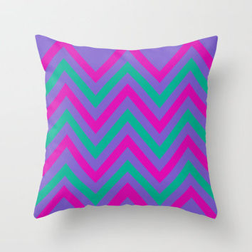 Chevron Berry Blast Throw Pillow by Shawn Terry King