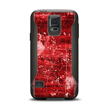 The Red Grunge Paint Splatter Samsung Galaxy S5 Otterbox Commuter Case Skin Set