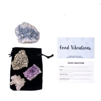 Good Vibrations Crystal Set / Good Vibes Crystal Set / Positivity Stones / Crystals for Positivity / Healing Crystal Set / Celestite