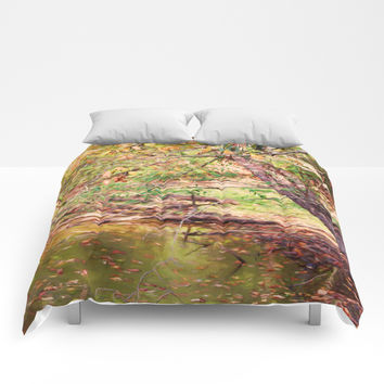 Autumn At Hickory Ridge Pond Comforters by Theresa Campbell D'August Art