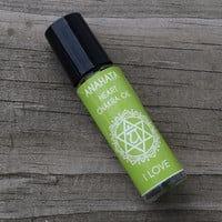 """Heart Chakra Oil """"I Love"""" Anahata - Open Your Heart Center, Increase Self Love and Let Go of Regret"""