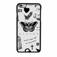 one direction harry styles tattoos blacks iphone 6 6s 4 4s 5 5s 5c cases