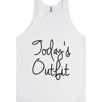 today's outfit-Unisex White Tank