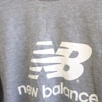 ONETOW big sale 25 vintage 90 39 s new balance nb streetwear pullover crewneck sweatshirt gray sweater size m
