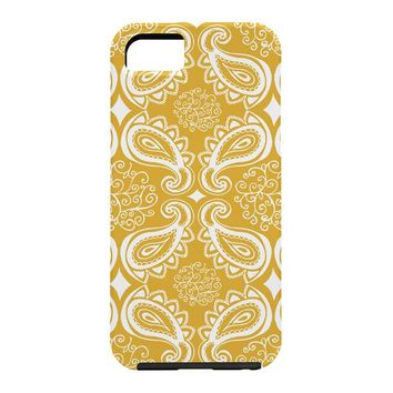Heather Dutton Plush Paisley Goldenrod Cell Phone Case