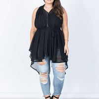 Plus Size Totally Sheer Tunic