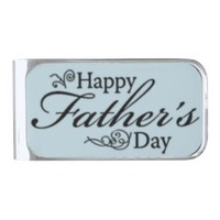 Father's Day Silver Finish Money Clip