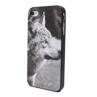 Unique Wolf's Eyes Black Side Hard Plastic Back Skin Case Cover for iPhone 4 4S