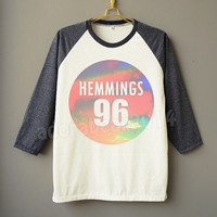 Luke Hemmings Shirt 5 Second Of Summer Shirt Sky Shirt Raglan Tee Baseball Shirt Unisex Shirt Women Shirt Men Shirt Jersey Long Sleeve Shirt