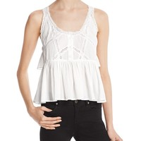Current/ElliottThe Lace-Trim Top