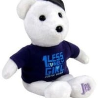 Justin Bieber Signature White Plush Bear ~ One Less Lonely Girl Shirt