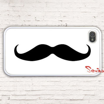 Iphone 4 Case, iPhone 4s Case, Mustache iPhone Case, iPhone 4 Hard Case