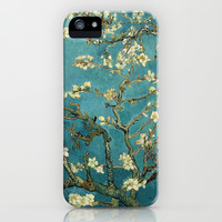 Blossoming Almond Tree, famous post  impressionism fine art oil painting by Vincent van Gogh.  iPhone & iPod Case by NatureMatters
