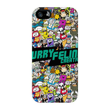 Furry Feline Collage Full Wrap Premium Tough Case for iPhone 5 / 5s by Furry Feline Creatives