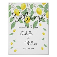 Welcome Sign | Modern Lemon Boho Summer Wedding
