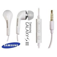 Samsung Original Replacement 3.5mm Premium Stereo Headset for Galaxy S 3 - Non-Retail Packaging - White
