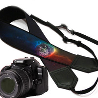 Galaxy camera strap. Cosmos Camera strap.  DSLR Camera Strap. Camera accessories. Nikon  Canon camera strap.
