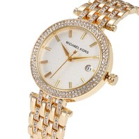 MK Michael Kor New fashion more diamond quartz watchband women watch wristwatch Golden