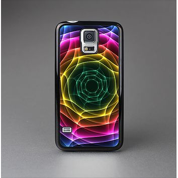 The Rainbow Neon Translucent Vortex Skin-Sert Case for the Samsung Galaxy S5