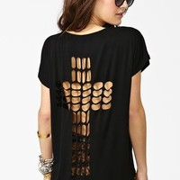 Cross It Out Tee  in  What's New at Nasty Gal