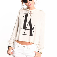LA LOVER HOODED SWEATER