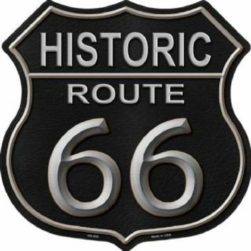 Route 66 Black Highway Shield Sign  11 inch  die cut  sign
