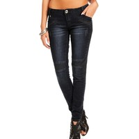 Sale-dark Denim Moto