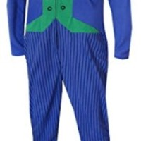 Batman's The Joker Fleece Onesuit Footie Pajama for men (Small)