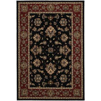 """Ariana 623M3 Floral Black-Red Area Rug (4' X 5'9"""")"""
