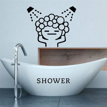 creative baby love shower bubble wall stickers for bathroom sliding door waterproof glass shower room wall decals art mural