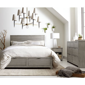 Tribeca Grey Storage Bedroom Furniture Collection, Only at Macy's