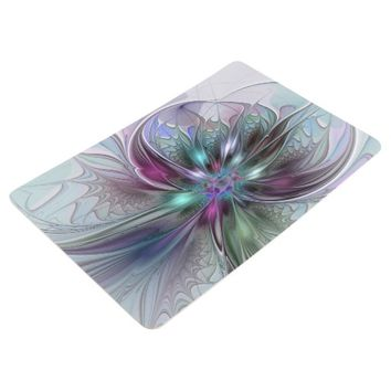 Colorful Fantasy, abstract and modern Fractal Art Floor Mat