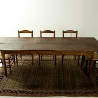 Antique Pine Harvest Farm Table | Shaker | Custom Dining Furniture |