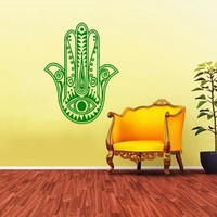 Hamsa Hand India Eye Yoga Indian Buddha Ganesh Wall Vinyl Decals Sticker Home Interior Decor for Any Room Housewares Mural Design Graphic Bedroom Wall Decal (5807)