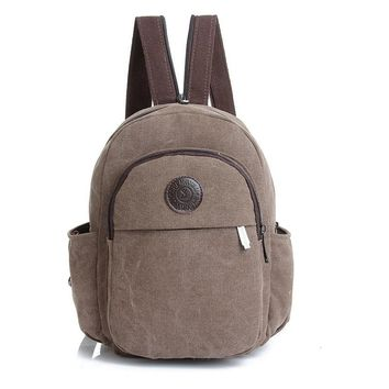 Vintage Fashion Women Mini Backpack Women's Backpack Multifunctional Canvas Bag Travel Rucksack Small Chest Pack Girl Schoolbags