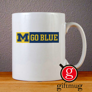 Michigan Go Blue Ceramic Coffee Mugs