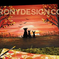 Autumn Sunset Painting - Original Art Prints and Products