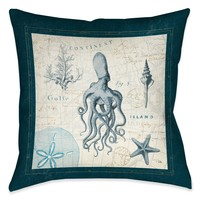 Ocean Life VII Indoor Decorative Pillow