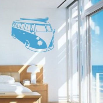 Volkswagen Bus Wall Decal Sticker Art Graphic